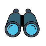 Jumelles de poche bleue